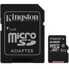 CARTAO DE MEMORIA KINGSTON MICRO SD 64GB CLASS 10 C/ ADAP. SD SDCS/64GB