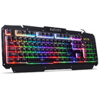 TECLADO USB GAMER METAL EXBOM C/ LED BK-G200