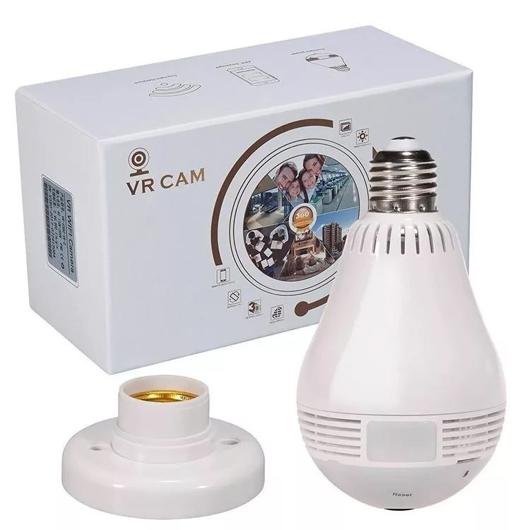 CAMERA IP WIRELESS COM LUMINARIA VR CAM VR-V9-C - Company Informatica